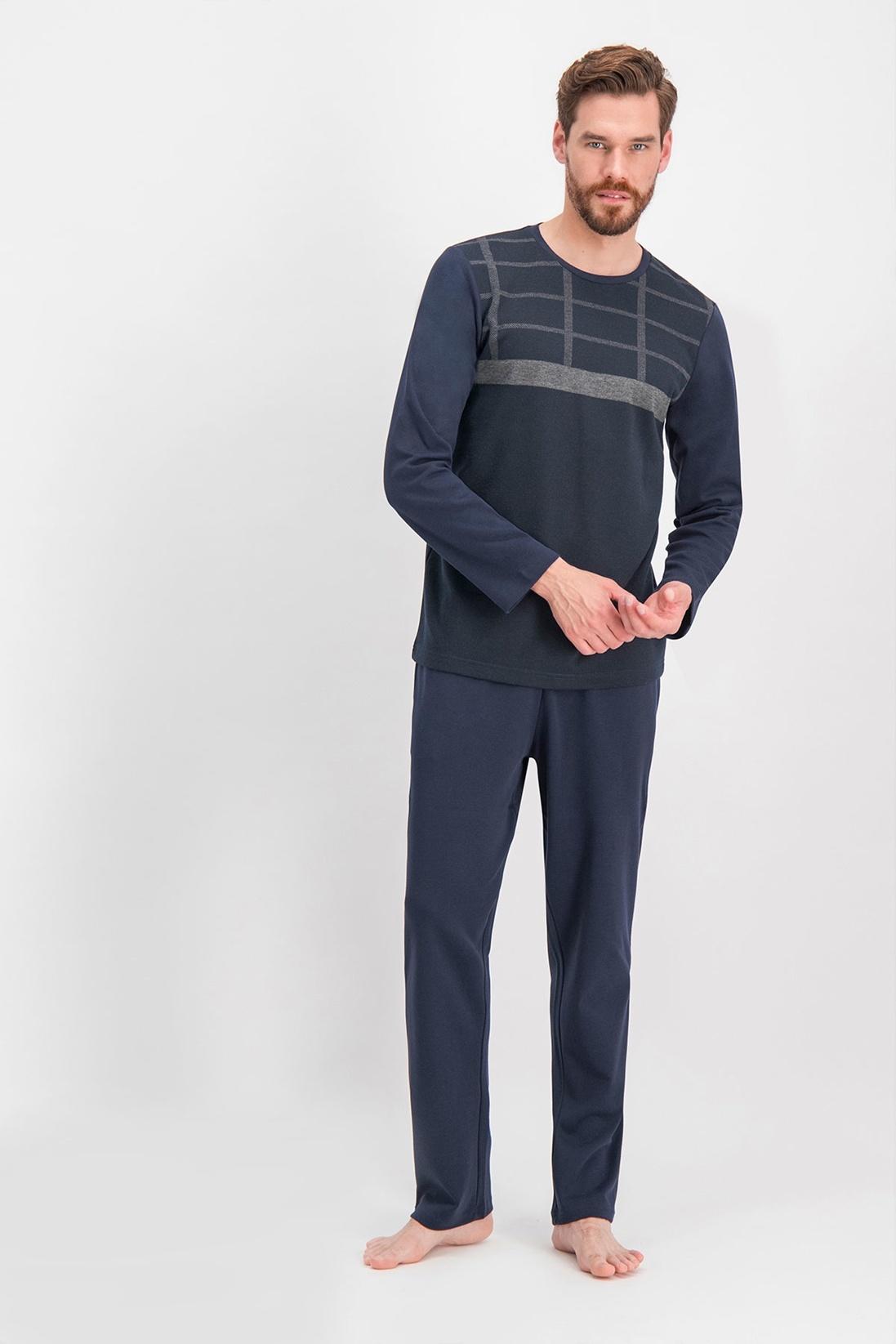 Erkek Arnetta Quadrilateral Siyah Büyük Beden Pijama Takımı